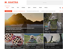 Maktba News & Magazine PSD Template