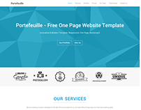 Free One Page Website Template – Portefeuille