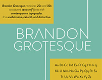 Brandon Grotesque Type Specimen Sheet