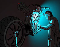 Motor cycles and their forces part IV  (31 art works)