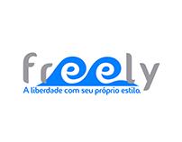 Logo Freely: aplicação do conceito figura-fundo