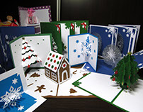 Christmas pop up cards