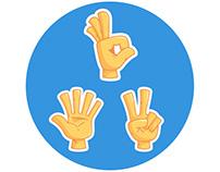 Hand emoji / sticker set