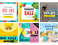 [DOWNLOAD TEMPLATES] Summer Sale Social Medial Pack