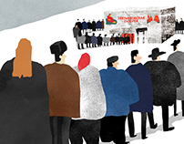 series of illustration for The Moscow Times newspaper