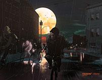 """Dark Halloween"" by Jérôme Mireault, colagene,com"