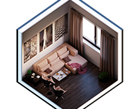 Isometric Interior Design