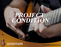 Free Guitar Player Powerpoint Presentation Template