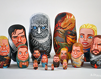 Game of Thrones Nesting Dolls