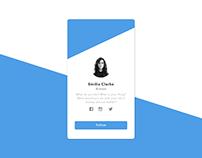 Profile Design - iOS