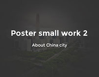 Poster small work on Chinese cities