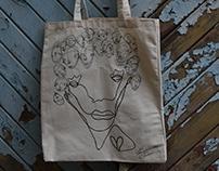 Companions- Handmade One line tote bags