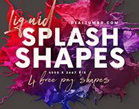 Liquid Splash – Free PNG Shapes