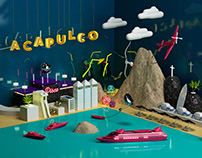 ACAPULCO | 3D Illustration