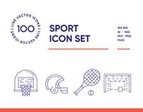Sport & Extreme Line Icon Set