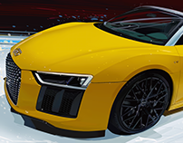 Audi R8 Spyder Illustration