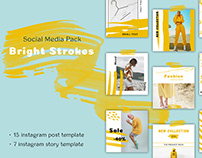 Bright Strokes - Social Media Pack