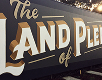 Land of Plenty - Sign painted mural