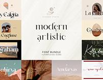 Modern Artistic Font Bundle