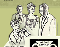 """poster design for a play """"The Browning Version"""""""