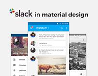 Slack in Material Design