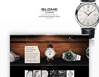 Blome Uhren · Web + Mobile