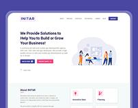 INITAR - IT Firm - Homepage Design