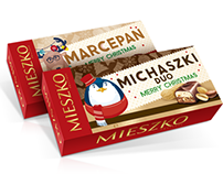 Christmas chocolate box packaging for MIESZKO