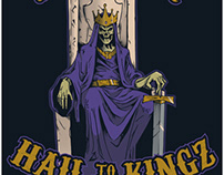 Hail to the Kingz shirt design (concept to creation)
