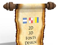 An old papyrus scroll (3D)