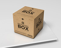 Free PSD Packaging Box Mockup For Presentation