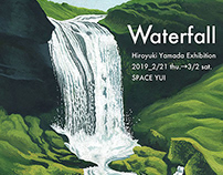 """2019 solo exhibition """"Waterfall"""" works (Tokyo Aoyama)"""