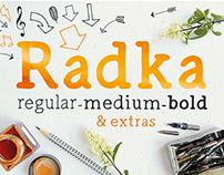 Radka - Handwritten serif font