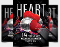 Heart Party – PSD Flyer Template + Facebook Cover + Ins
