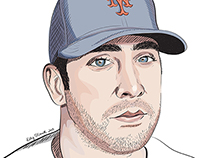 MLB player sketches