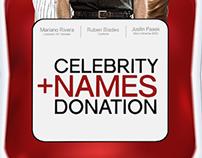 Sangre Panamá - Celebrity names donation