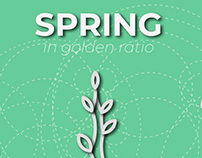Spring in golden ratio