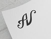 AV Initial/Signature Design for Anton Volo