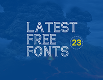 23 New / Free Fonts for Outstanding Typography Design