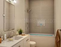 Contemporary Interior Bathroom Design View