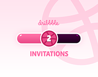 2 Dribbble Invitations Give Away