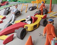 SESI Robotics Festival - Paper sculptures