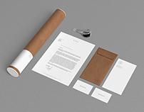 2 Stationery Mock Up - Kraft Paper