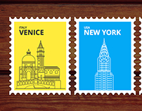 Illustrations for the most popular cities in the world