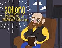 Schlomo, psicólogo de la farándula dibujada.