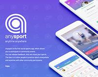 Anysport - UI / UX