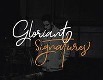 Gloriant Signature Font Duo