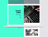 Clean resume website. HTML5+CSS3+JS.