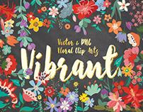 Vibrant Floral Design Bundle & Freebie