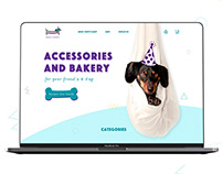 Online-store for Dog's Birthday Concept